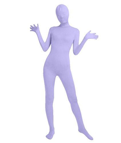 NiSeng Erwachsener und Kind Bodysuit Kostüm Zentai Ganzkörperanzug Kostüm Lange Ärmel Bodysuit Kostüm Helles Lila (Lila Unitard Kostüm)