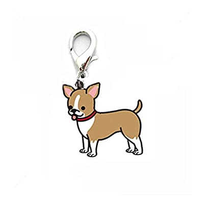 Rosennie Dog Tag Pet ID Enamel Accessories Collar Necklace Pendant Lovely Keychain