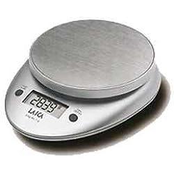 Laica BX9300 Bilancia da Cucina Elettronica, 3 kg/1 g, Acciaio