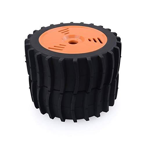 CHOULI 2 STÜCKE RC Auto Schnee Sand Paddel Reifen für Redcat VRX Kyosho Team Losi 1/8 Buggy Orange (Und Paddel-reifen Felgen)