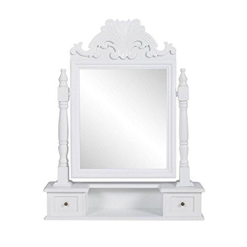 Xinglieu Toletta mit rechteckigem Spiegel aus MDF Einzigartiges und einfaches Design, robust und widerstandsfähiger Trucco Moderner Tisch Trucco Profi