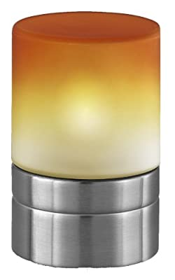 Trio-Leuchten 5908011-12 Tischleuchte in Nickel matt, Touch-Me-Funktion(4-fach schaltbar, 3 Helligkeitsstufen), Glas Farbverlauf orange, exklusive 1xE14 max. 40W, Höhe 15 cm von Trio Leuchten bei Lampenhans.de