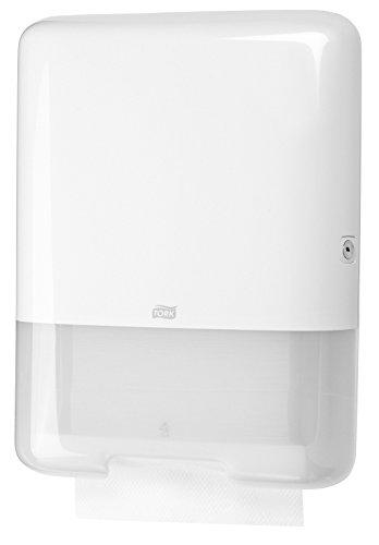 Tork 553000 Spender für H3 Zickzack und Lagenfalz Handtücher im Elevation Design / Papiertuchspender für hygienische Einzeltuchentnahme in weiß Test