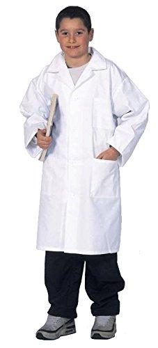 Blouse blanche enfant 10 12 14 et 16 17 ans, fille ou garcon, Cours de physique-Chimie, 100% coton