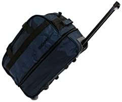 Escape Çekçekli Tekerlekli Seyahat Valizi Körüklü Büyük Boy Bavul Lacivert