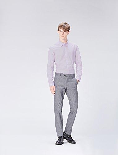 FIND Hemd Herren Slim Fit mit Kent-Kragen Rosa (Soft Pink)