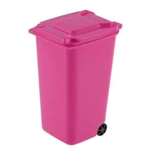 Mini Papierkorb Set, Desktop Mülleimer Mit Deckel Desktop Müll Aufbewahrungsbox Aufbewahrungsbox Stift Bleistift Becherhalter Büromaterial,Rosa,A (Rosa Becherhalter Bleistift)