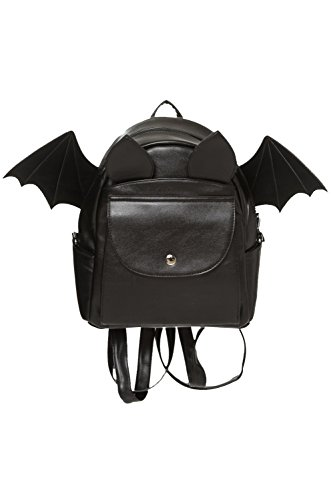 Banned Apparel Waverly Faux Leather Backpack Fledermaus Tasche Rucksäcke