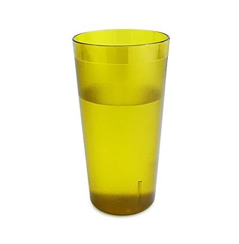 New Star 12 pcs 20 OZ Amber Color Restaurant Tumbler Beverage Cup, Stackable Cups, Break-Resistant Commercial