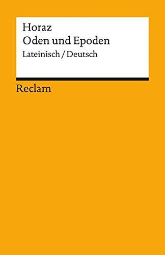 Oden und Epoden (Reclams Universal-Bibliothek)