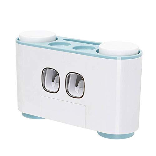 Majome Distributeur de dentifrice à serrage automatique, presse-fruits mains libres pour salle de bains