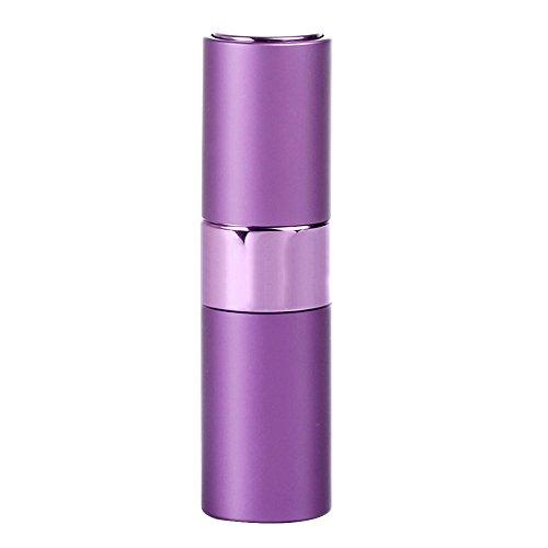 Preisvergleich Produktbild Minkoll Nachfüllbare Parfüm Sprühflaschen, 15ml Tragbare Mini leere Reise Zerstäuber Duft Metall Shell (lila)