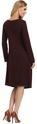 Merry Style Damen Kleid Samantha Braun