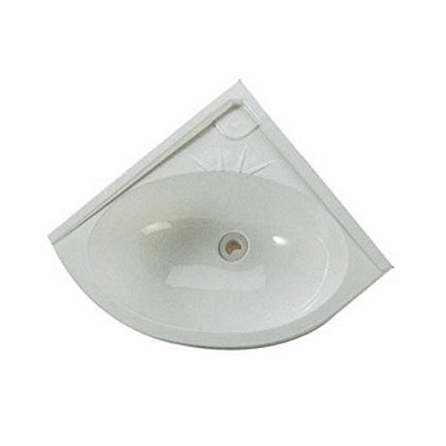 Lavabo pour camoing car angle blanc 330 x 330 mm