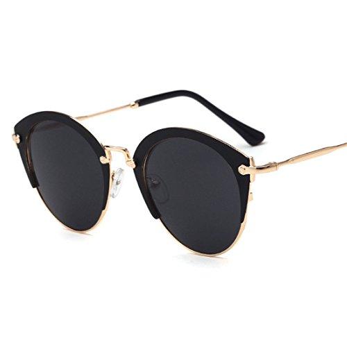 GCC Die Sonnenbrille Retro Hälfte Frame Sonnenbrillen, G 蛤 Linse