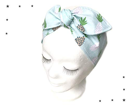 Haarband rockabilly Ananas mint pastell -