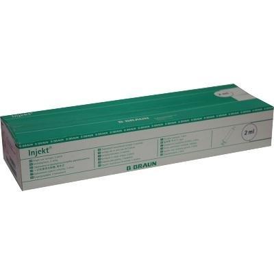 Braun Inkjet - Juego de 100 jeringuillas de un solo uso (2 ml, con cono central)