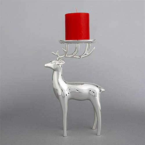 Europäische Retro Home Weihnachten Halloween Handwerk Metall Versilbert Kerzenhalter, Station Rotwild (Halloween Kerzenhalter Handwerk)