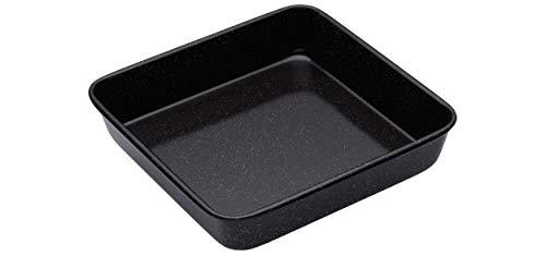 Kitchen Craft Master Class - Bandeja cuadrada para horno superficie esmaltada, 24 x 24 x 5 cm