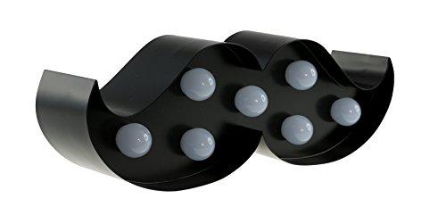 rrbart schwarz mit LED Beleuchtung in 9