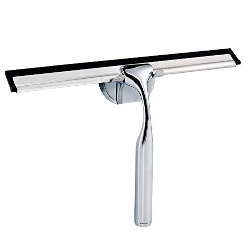 Glitz Star 304 Edstal Duschabzieher,Badabzieher,Duschwischer mit Silikon-Wischlippe,Saugnapf Wandaufhänger ohne Bohren für Badezimmer Spiegel