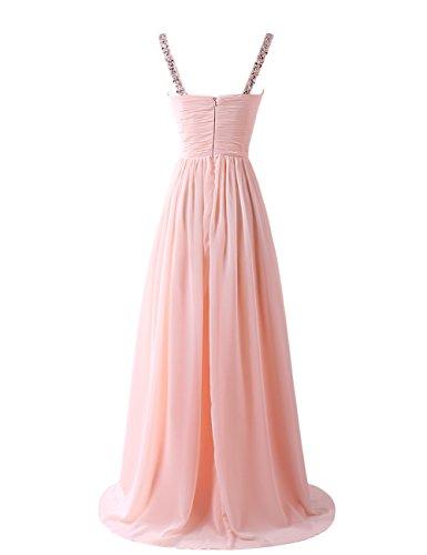 Dresstells, Robe de soirée bretelles spaghetti, robe de cérémonie, robe longue de demoiselle d'honneur Orange
