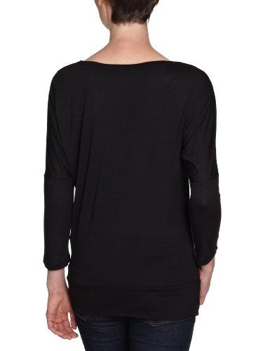 TOM TAILOR Denim Damen T-Shirt, 10237610071/fem. batwing shirt Schwarz (2999)