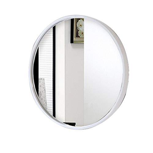 Ecke Gerahmt (Wandmontierter Badezimmerspiegel Runden Dekorativ Modern Weiß gerahmt High Definition Rasierspiegel für Apartment Wohnzimmer Schlafzimmer Schlafsaal Eingänge)