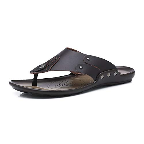 Open Toe Fischer Sandal (HILOTU Herren Ledersandalen Open Toe Athletic Sandal Summer Beach Trail Outdoor Sandalen Auf Style OX Leder Flexibel Atmungsaktiv (Color : Schwarz, Größe : 39 EU))