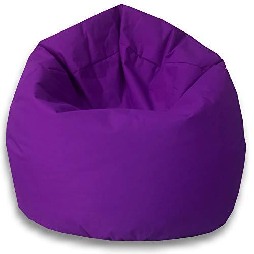 byufya Sitzsack mit EPS Styropor Füllung - In & Outdoor Größen - Bean Bag Sitzkissen Bodenkissen Kinder Sitzsäcke Relax Game Möbel Kissen Sessel Sofa Gaming (XL ca.65cm - ca.330 Liter, Lila)