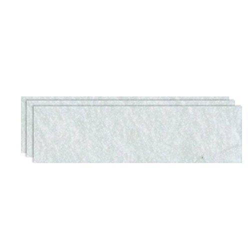 GLOREX Bastelfilz (40 x 30 cm) weiß, 4 mm dick, 3 Filzplatten