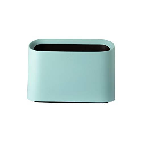 YA-Uzeun Mini-Mülleimer, für den Schreibtisch, für Trompeten, kleine Größe, Lagerkapazität mintgrün -