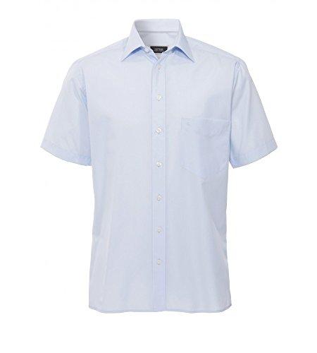 Hatico - Regular Fit - Bügelfreies Herren Kurzarm Hemd in verschiedenen Farben (3209 251) Blau (10)