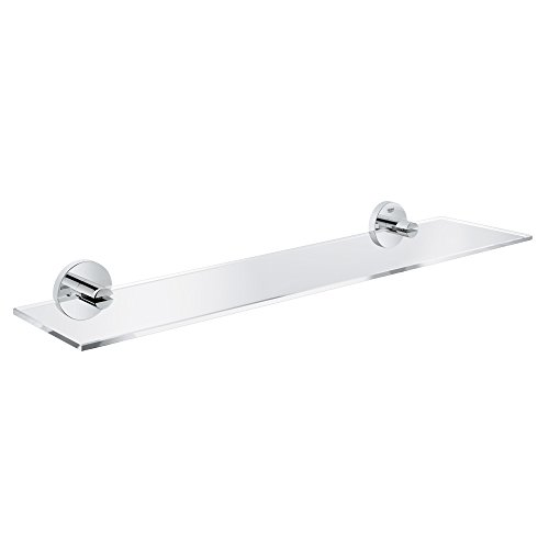 GROHE Essentials Bad-Accessoires -Glasablage (Material: Glas / Metall) chrom, 40799001