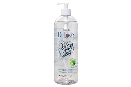 Dr. Love Aloe Aqua Gleitgel (1.000 ml). Das sensitive wasserbasierte Gleitmittel mit regenerativer, hautschützender Aloe Vera. Parfümfrei.