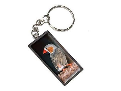 Australian Zebra Finch–Bird Schlüsselanhänger Ring