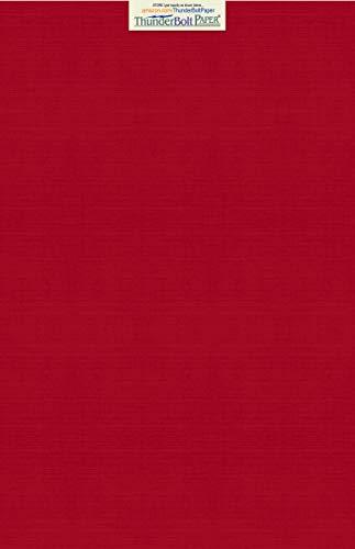 15Bright rot Leinen Papier 80# Abdeckung Blatt-30,5x 45,7cm (30,5x 45,7cm) large poster Größe-80Lb/Pfund Karte Gewicht-Feine Leinen Texturierte Finish-Deep Dye Qualität Karton (Druckbare Farbe Blätter)