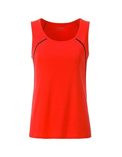 Débardeur technique Femme pour fitness et sports bright-orange/black