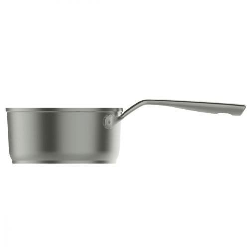 Aubecq A712018 Casserole, Aluminium, Gris, 18 cm