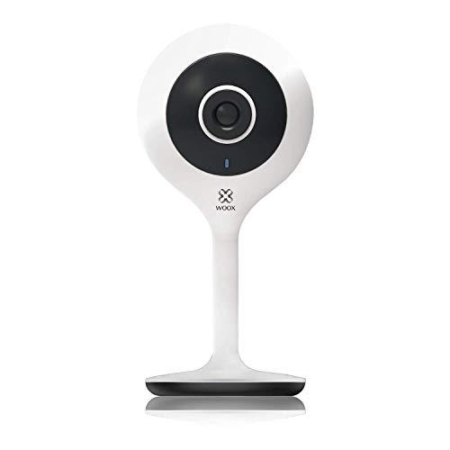 Woox R4024 1080p HD Camara Inteligente, Funciona con Alexa, Blanco