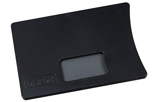 KARTENHÜLLE mit RFID-Schutz (5 x Schwarz)