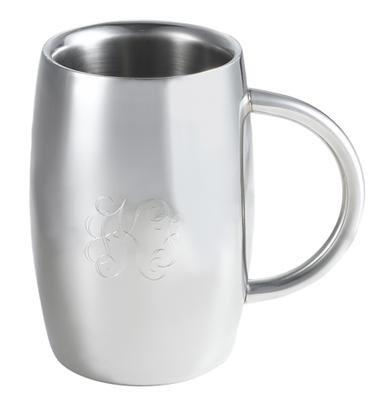 Emerald 14 oz Double Walled Stainless Steel Beer Mug