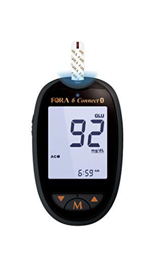 Fora 6 connect, 6 in 1 Messgerät zur Bestimmung des Blutzuckers (mg/dl) und weiterer Parameter
