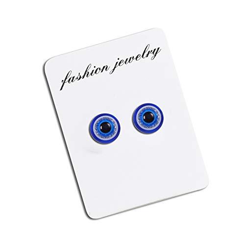 IUANUG Ohrring Herren Mode Und Billige Blaue Augen Ohrclip Durchbohrt Magnetischer Magnet Herren Ohrring Unisex Einzigartige Geschenkbox,1
