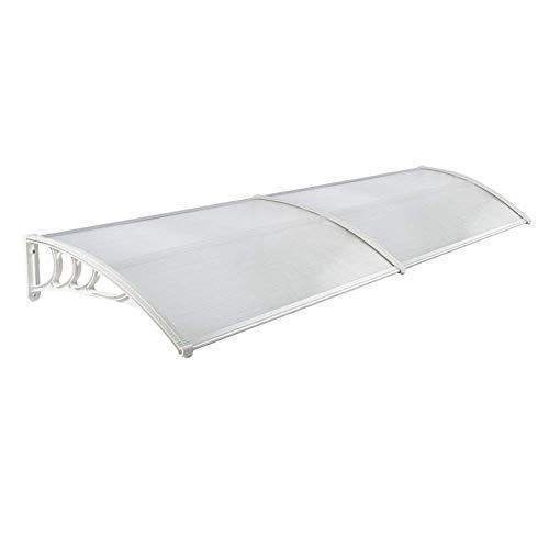 Froadp 300 x 90 cm Pultvordach Vordach Türdach Pultbogenvordach Vordach Überdachung (Weiß)