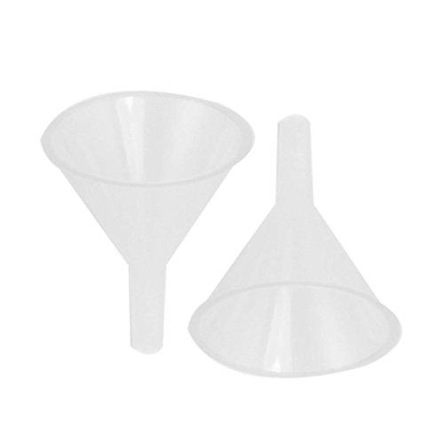 """SODIAL(R)2 Stueck 60 ml 2 5/ 9 """" Mund Durchmesser Labor klarer weisser Kunststoff Filter Trichter"""