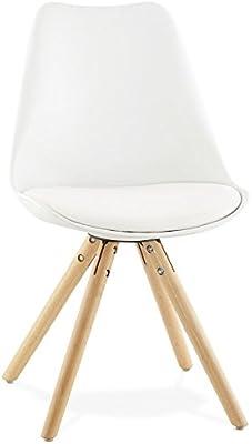 regalosMiguel - Pack 4 Sillas Nórdicas Bonik Blancas (Inspirada en la Línea Eames)