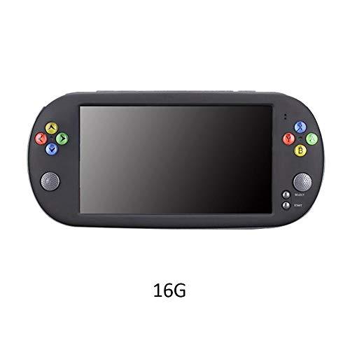 Handheld Spielkonsole Retro Tragbare Spiele Konsolen Video Spielen 7 Zoll Videowiedergabe Wifi Bildschirm Arcade Erholung System Geburtstagsgeschenk für Kinder(16G)