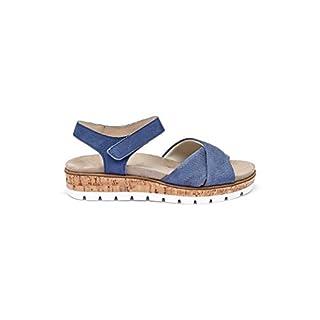 Avena Damen Sandale Polstertraum Blau GR.38