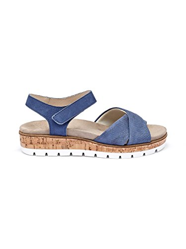 Avena Damen Sandale Polstertraum Blau GR.40